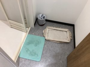シャワー室の床
