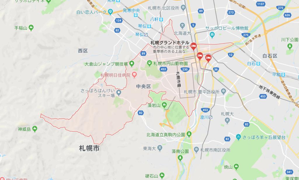 札幌市中央区_広域地図