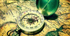 羅針盤と地図