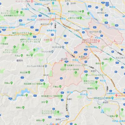埼玉県本庄市の地図