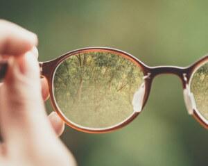 メガネと自然