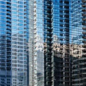 高層ビルのアップ
